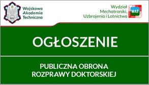 Publiczna Obrona ROZPRAWY DOKTORSKIEJ